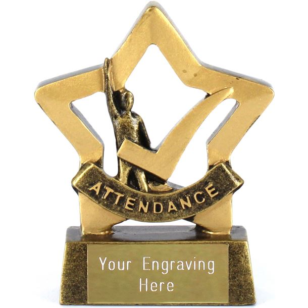 "Mini Stars Attendance Award Trophy 8.5cm (3.25"")"