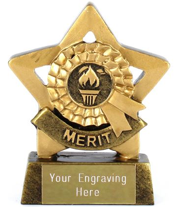 "Mini Stars Merit Award Trophy 8.5cm (3.25"")"