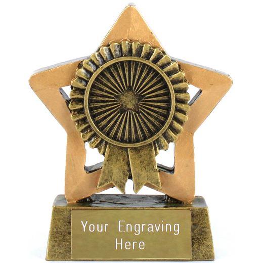 """Mini Star Rosette Trophy 7.5cm (3"""")"""