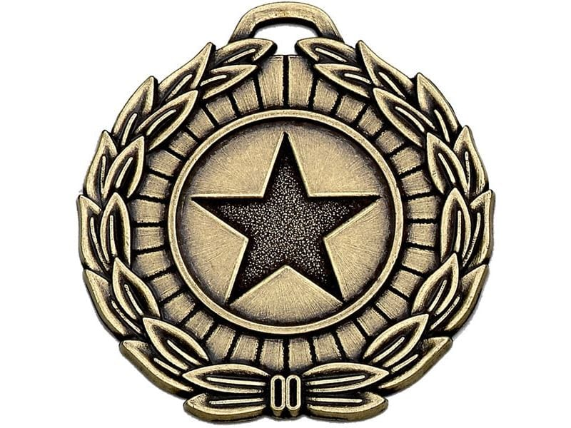 "Bronze Mega Star 50 Medal 50mm (2"")"