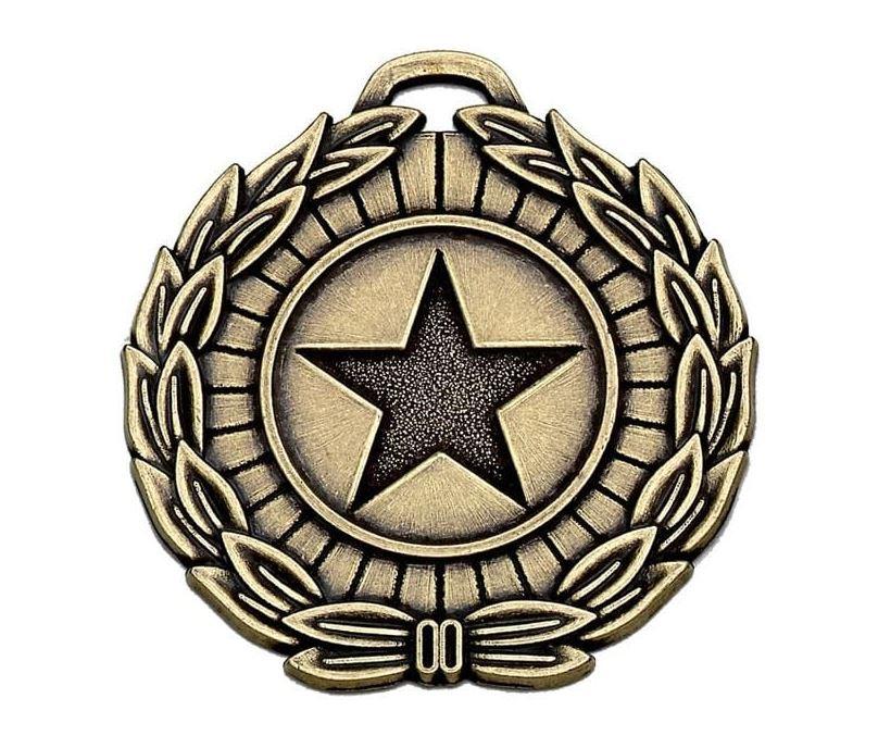 "Bronze Mega Star 50 Medal 50mm (2"")"