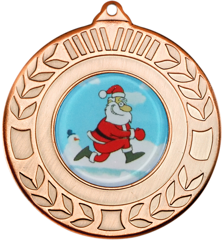 "Bronze Christmas Wreath Medal 50mm (2"")"