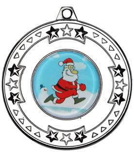 "Silver Star Christmas Medal 50mm (2"")"