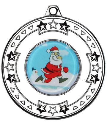 "Silver Star Christmas Medal 50mm (2"")"