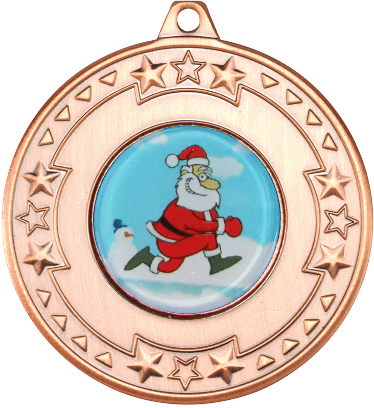 "Bronze Star Christmas Medal 50mm (2"")"