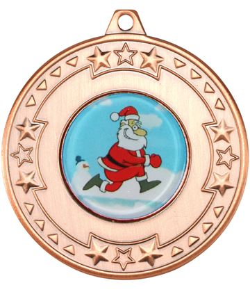 "Bronze Star Christmas Medal 50mm (2"")"