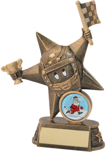 "Christmas Mario Kart Champion Trophy 14.5cm (5.75"")"