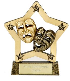 "Economy Stars Drama Award Antique Gold 12.5cm (5"")"