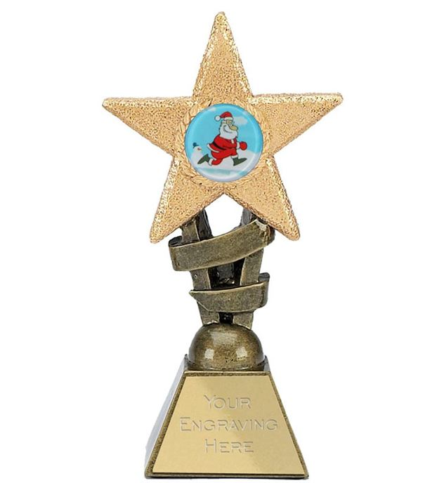 "Christmas Star Trophy 14cm (5.5"")"