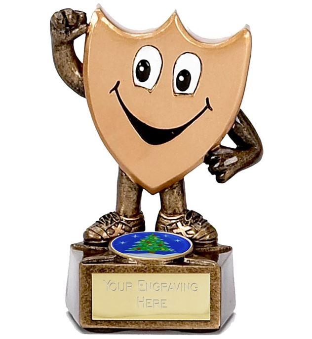 "Children's Christmas Trophy Shield Man 9.5cm (3.75"")"