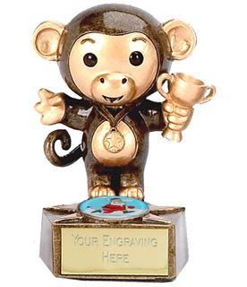 "Christmas Monkey Trophy 9cm (3.5"")"