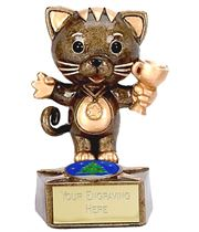 "Christmas Cat Trophy 9cm (3.5"")"