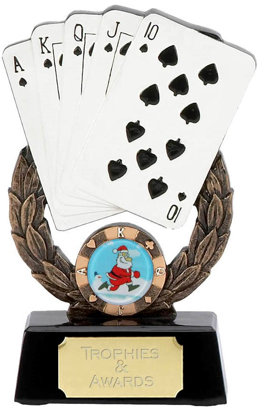 "Christmas Playing Cards Champion Trophy 14.5cm (5.75"")"