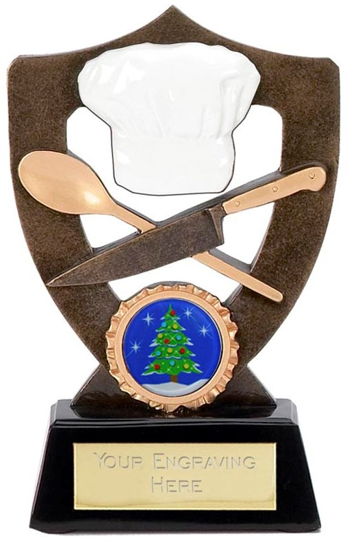 "Best Christmas Dinner Cook Trophy 13.5cm (5.25"")"
