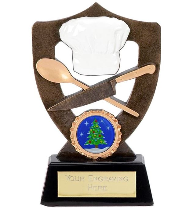 "Best Christmas Dinner Cook Trophy 13.5cm (5.25"")"