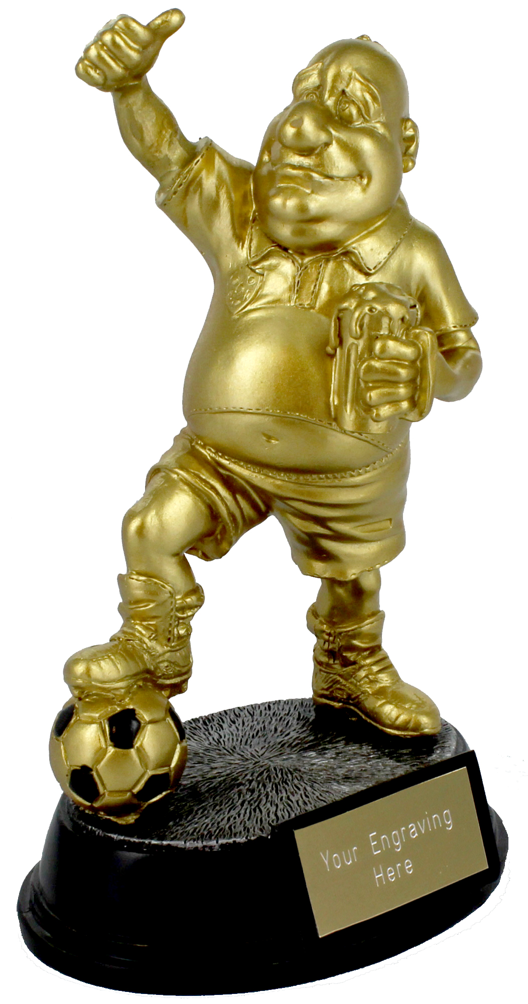 "Gold Resin Outrageous Beer Bellies Sportsman Trophy 16.5cm (6.5"")"