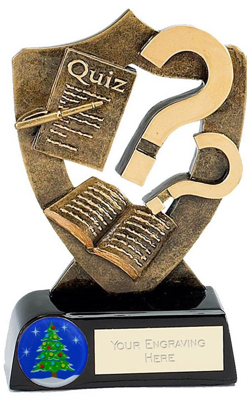 "Christmas Quiz Trophy 13.5cm (5.25"")"