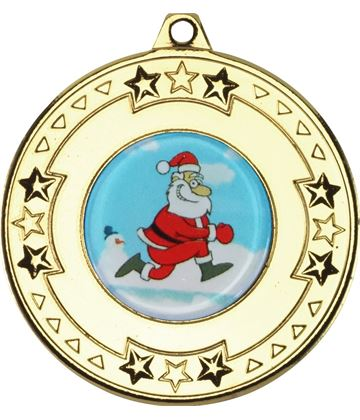 "Gold Star Christmas Medal 50mm (2"")"