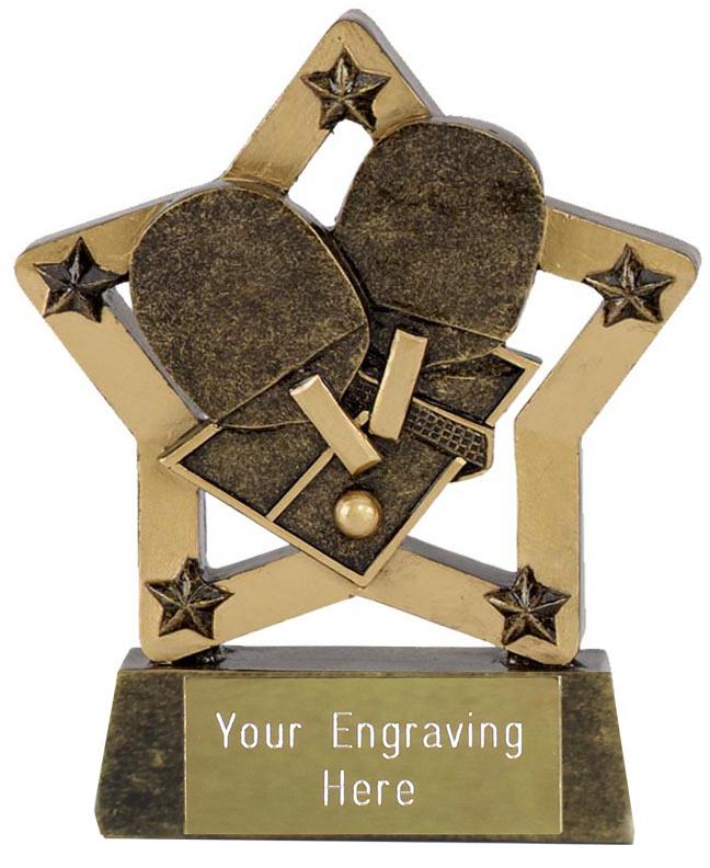 "Table Tennis Star Trophy 12.5cm (5"")"