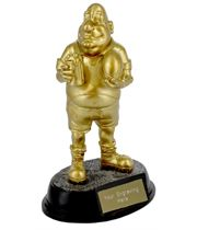 "Gold Resin Outrageous Beer Bellies Rugby Man Trophy 16.5cm (6.5"")"