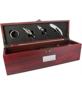 "Rosewood Finish Wine Presentation Box with Tools 36cm (14.25"")"