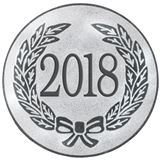"Silver Metal 2018 1"" Centre Disc"