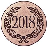 "Bronze Metal 2018 1"" Centre Disc"