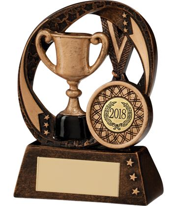 "2018 Typhoon Achievement Award Trophy 9cm (3.5"")"