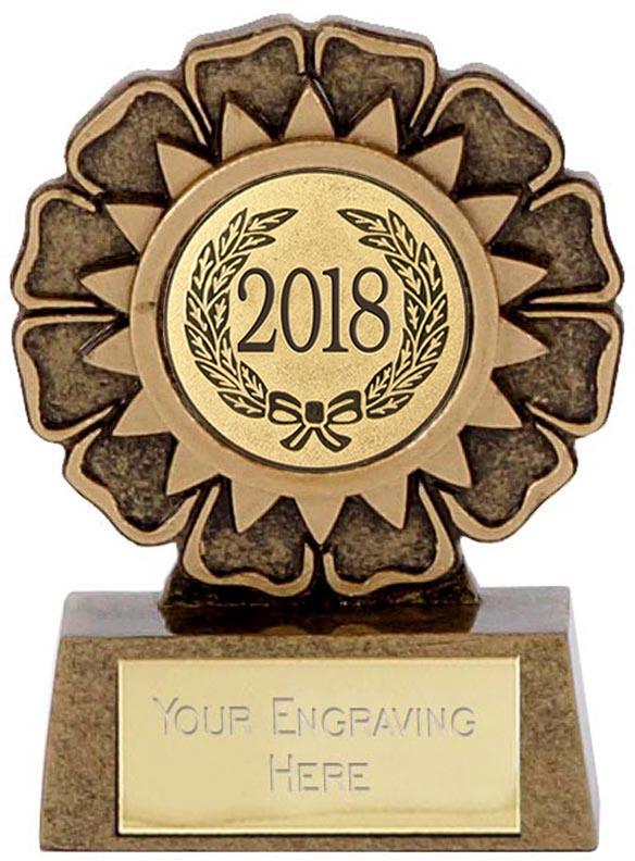"""2018 Resin Mini Star Rosette Trophy 6.5cm (2.5"""")"""