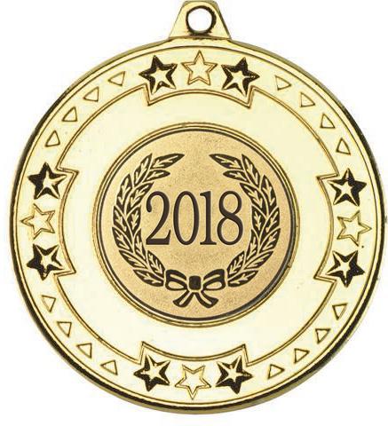 "2018 Gold Star & Pattern Medal 50mm (2"")"