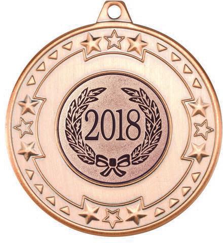"2018 Bronze Star & Pattern Medal 50mm (2"")"