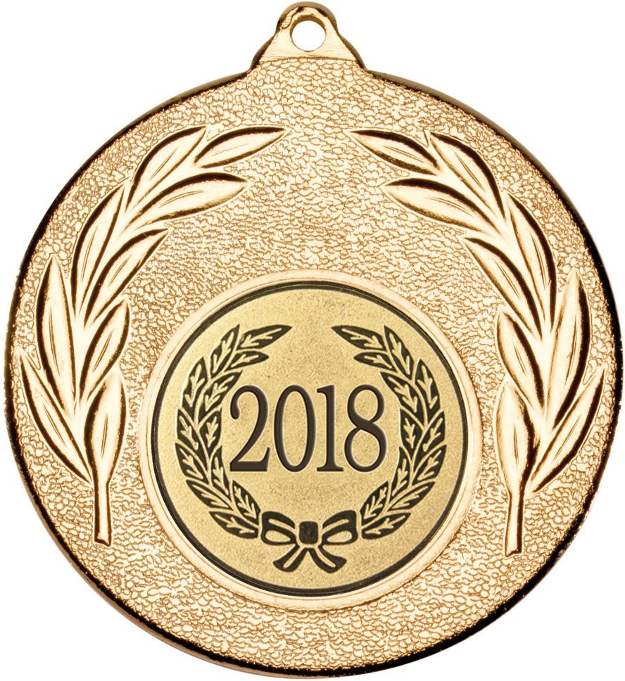 """2018 Gold Leaf Medal 50mm (2"""")"""