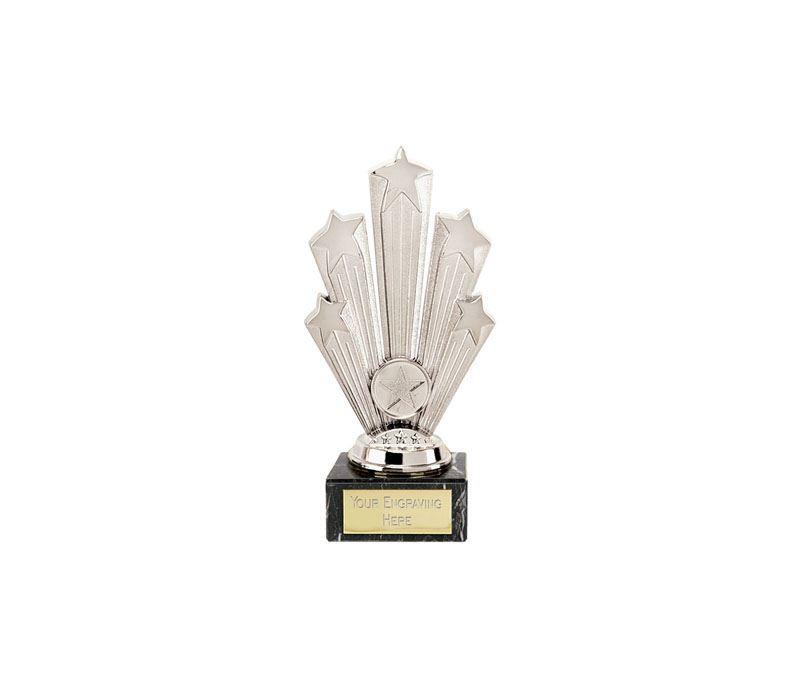 "Star Supreme Trophy On Marble Base Silver 18.5cm (7.25"")"