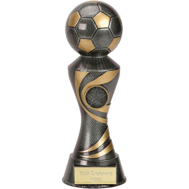 "Antique Silver 3D Football On Ace Spiral Column Trophy 22.5cm (8.75"")"