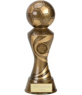 "Antique Gold 3D Football On Ace Spiral Column Trophy 22.5cm (8.75"")"