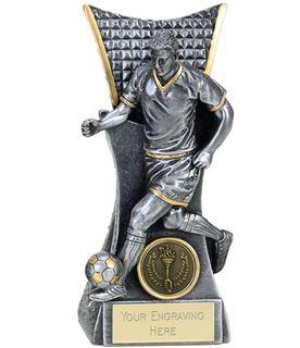 "Action Football Player Conqueror Trophy Antique Silver 18cm (7"")"