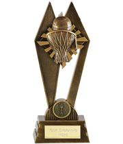 """Basketball Peak Trophy Antique Gold 17.5cm (7"""")"""