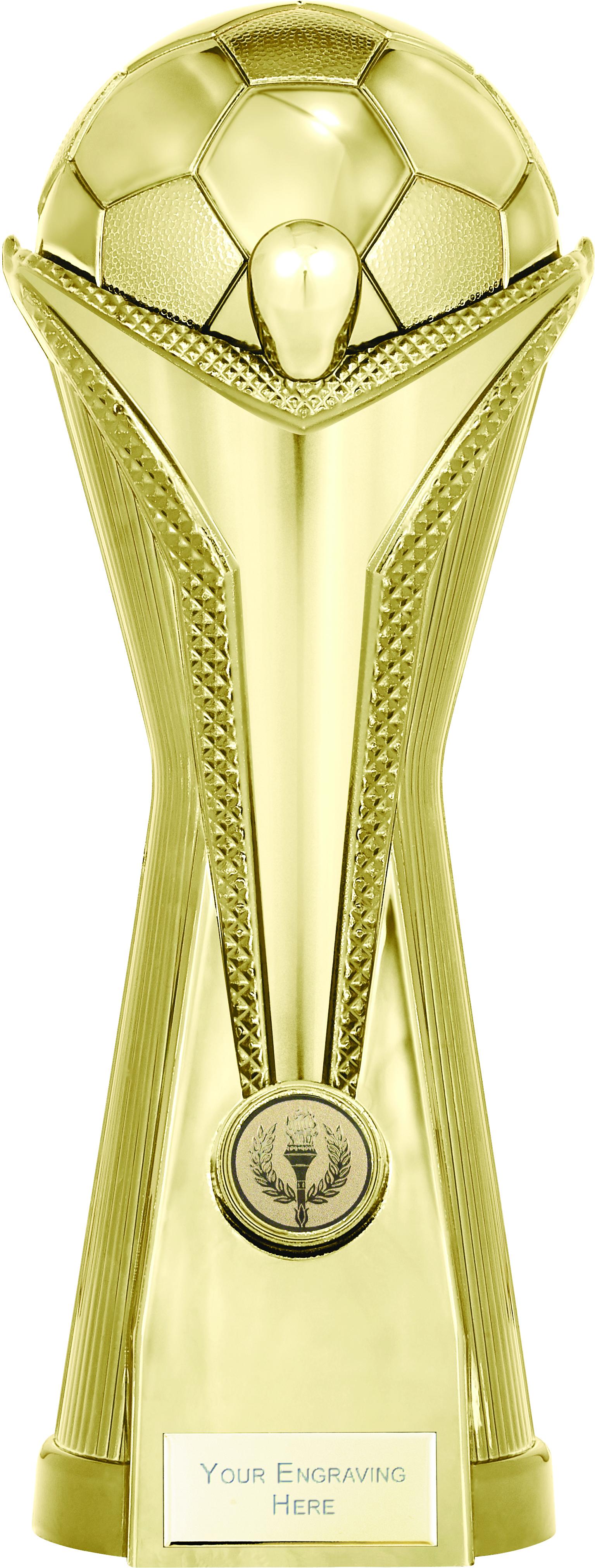 "World Football Cup Heavyweight Gold Trophy 30cm (11.75"")"