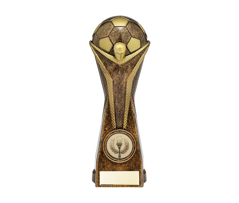 "World Football Cup Heavyweight Bronze Trophy 16cm (6.25"")"
