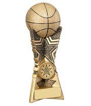 "3D Basket Ball Star Trophy 20.5cm (8"")"