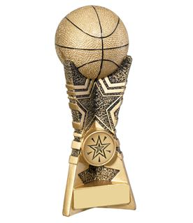 "3D Basket Ball Star Trophy 18cm (7"")"