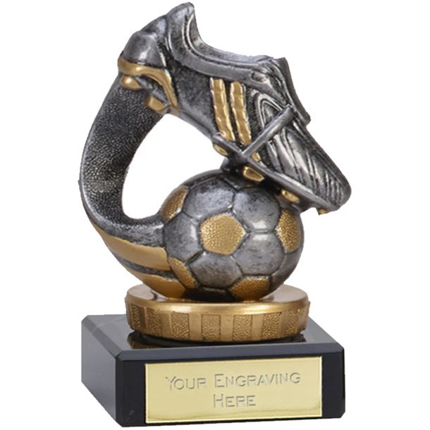 """Flexx Football Boot & Ball Antique Silver 10cm (4"""")"""