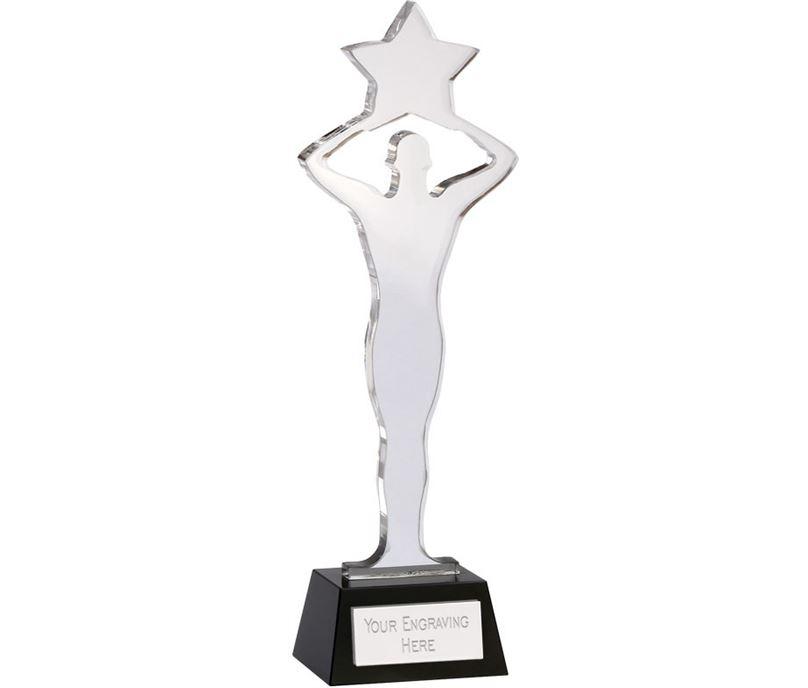 "Achievement Star Crystal Award 28.5cm (11.25"")"