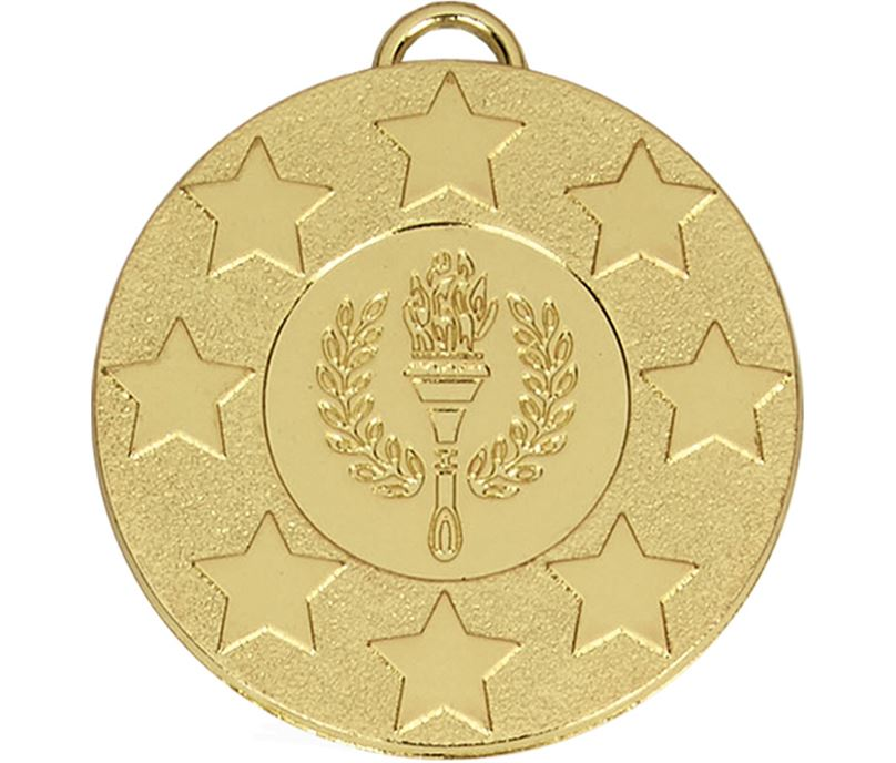 """Gold Stars & Victory Torch Medal (2"""")"""