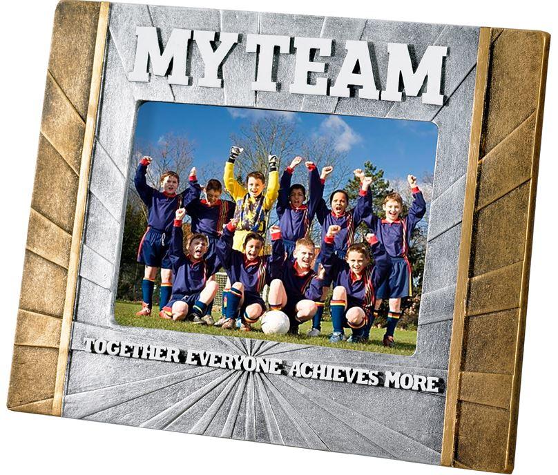 """Football 'My Team' Photo Frame 23cm x 17.5cm (6"""" x 4"""")"""