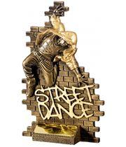"""Street Dance Male Action Trophy Antique Gold 16cm (6.25"""")"""
