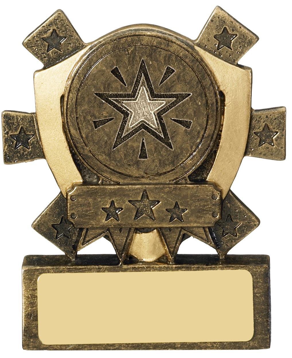 "Multi Award Mini Shield Trophy 8cm (3.25"")"