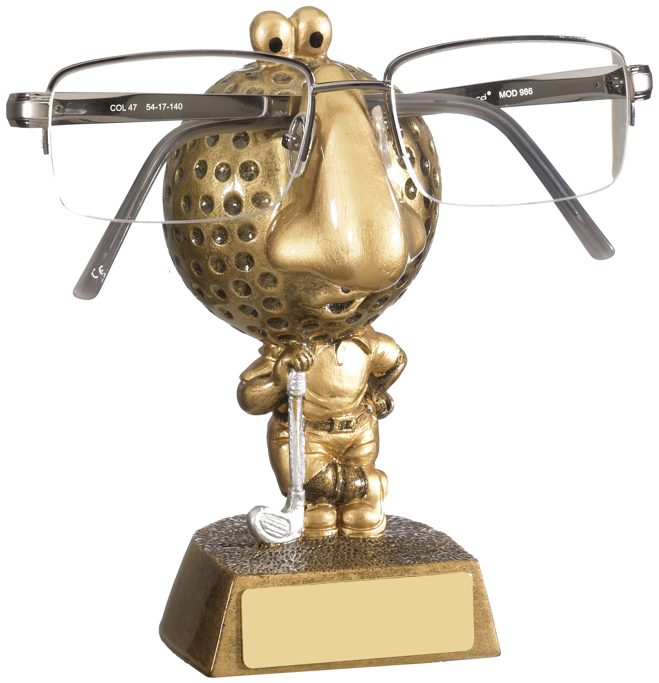 "Golf Novelty Glasses Holder 12cm (5.25"")"