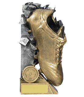 """Football Boot Breakout Trophy Gold & Silver 15cm (6"""")"""