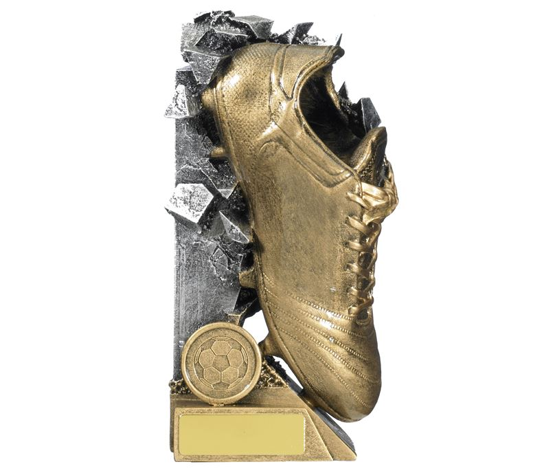 """Football Boot Breakout Trophy Gold & Silver 18cm (7"""")"""